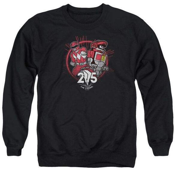 Power Rangers Red 25 Adult Crewneck Sweatshirt