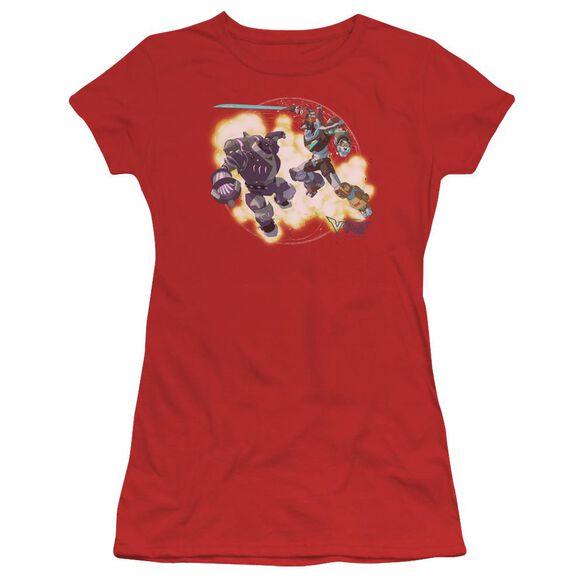 Voltron Robeast Short Sleeve Junior Sheer T-Shirt