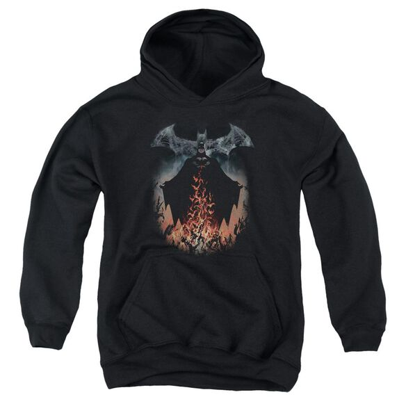 Batman Smoke & Fire Youth Pull Over Hoodie
