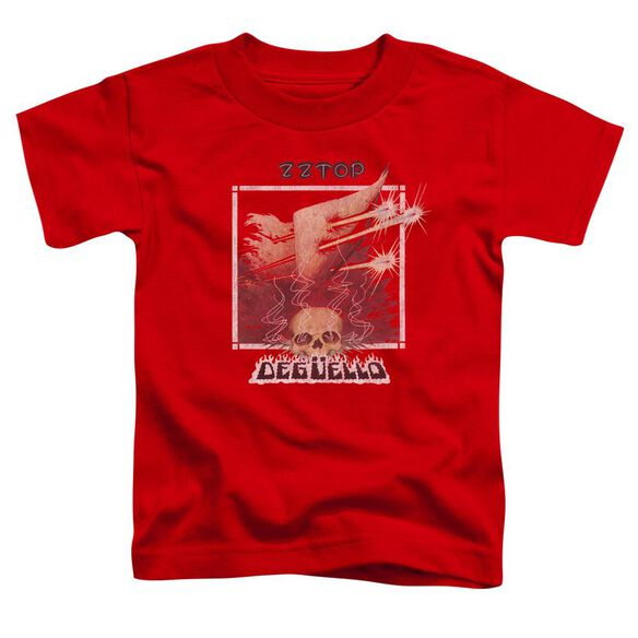 Zz Top Deguello Cover Short Sleeve Toddler Tee Red T-Shirt