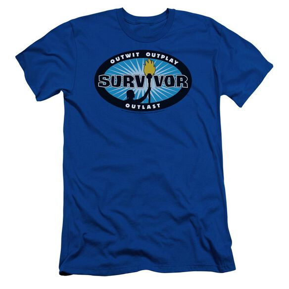 Survivor Burst Short Sleeve Adult Royal T-Shirt