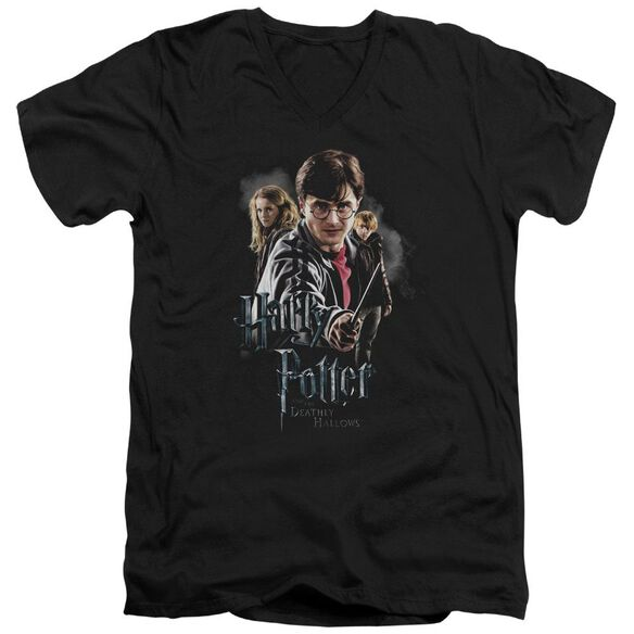 Harry Potter Deathly Hollows Cast Short Sleeve Adult V Neck T-Shirt