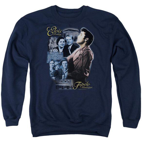 Elvis Tupelo Adult Crewneck Sweatshirt