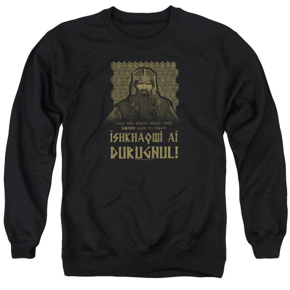 Lord Of The Rings Ishkhaqwi Durugnul Adult Crewneck Sweatshirt