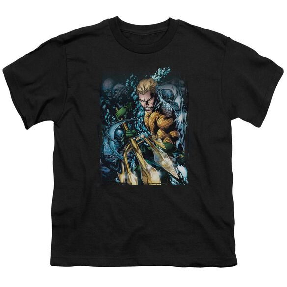 Jla Aquaman #1 Short Sleeve Youth T-Shirt