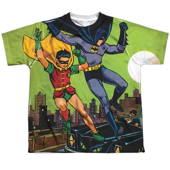 Batman Getaway Short Sleeve Youth Poly Crew T-Shirt