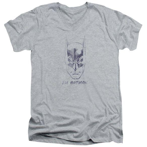 Batman I'm Batman Short Sleeve Adult V Neck Athletic T-Shirt
