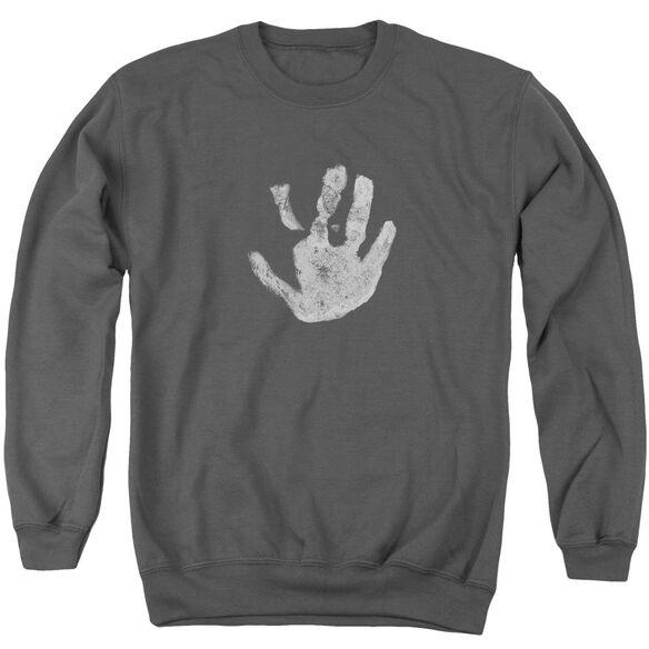 Lor White Hand Adult Crewneck Sweatshirt