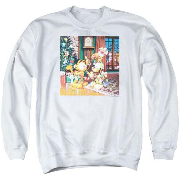 Garfield Odie Tree Adult Crewneck Sweatshirt