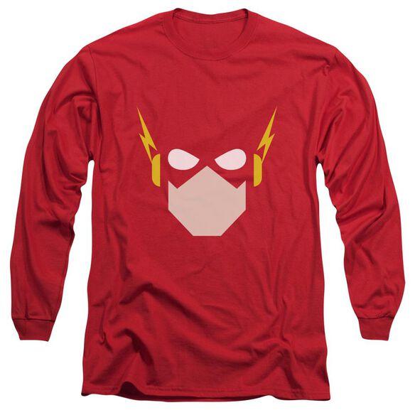 Jla Flash Head Long Sleeve Adult T-Shirt
