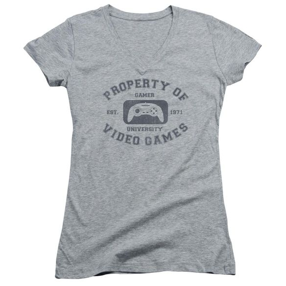 Gamer University Junior V Neck Athletic T-Shirt