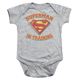 Superman Superman In Training Infant Snapsuit Athletic Heather Sm