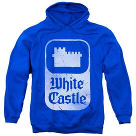 White Castle Classic Logo Adult Pull Over Hoodie Royal