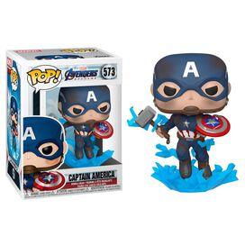 Funko Pop!: Marvel Avengers Endgame - Captain America [w/ Broken Shield & Mjolnir]
