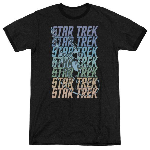 Star Trek Multi Logo Enterprise Adult Heather Ringer