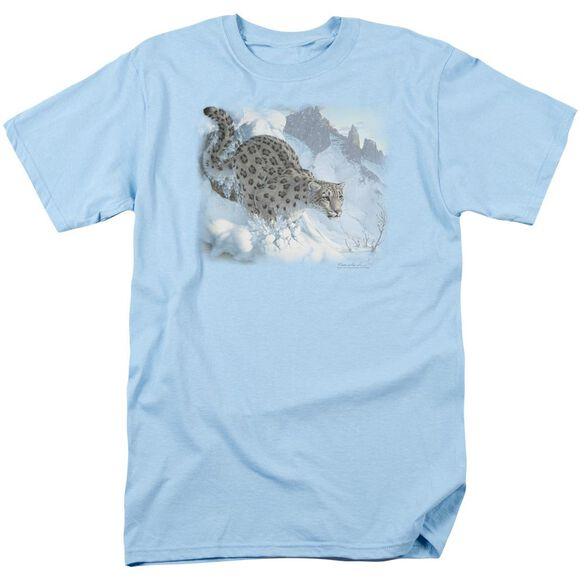 Wildlife Snow Leopard Short Sleeve Adult Light T-Shirt