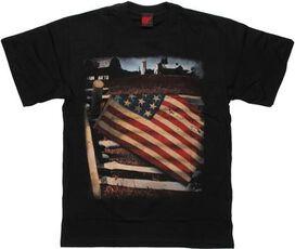 Flag USA Over Fence T-Shirt