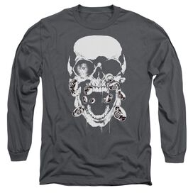 GREEN LANTERN BLACK LANTERN SKULL - L/S ADULT 18/1 - CHARCOAL T-Shirt