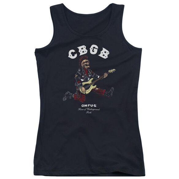 Cbgb Skull Jump Juniors Tank Top