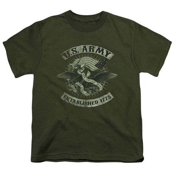 Army Union Eagle Short Sleeve Youth Military T-Shirt