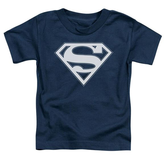 Superman Navy & White Shield Short Sleeve Toddler Tee Navy T-Shirt