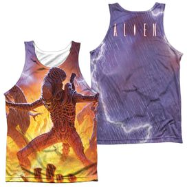 Alien Lightning And Fire (Front/back Print)-adult 100% Poly