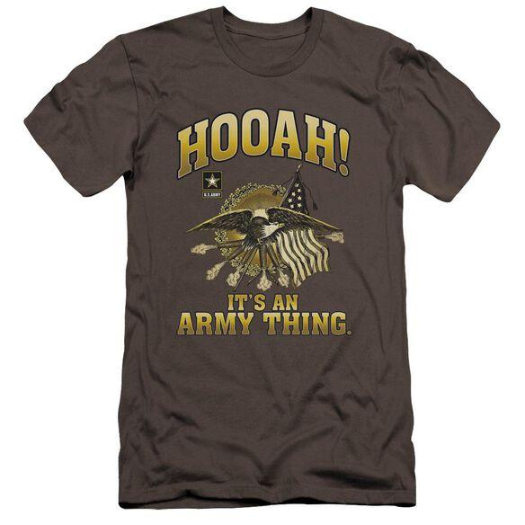 Army Hooah Premuim Canvas Adult Slim Fit