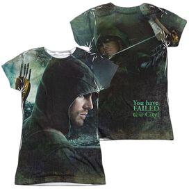 Arrow Hero (Front Back Print) Short Sleeve Junior Poly Crew T-Shirt
