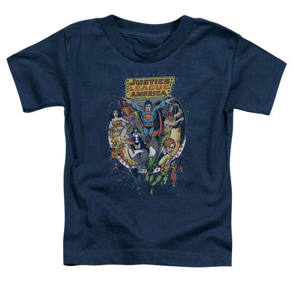 Jla Star Group Short Sleeve Toddler Tee Navy Sm T-Shirt