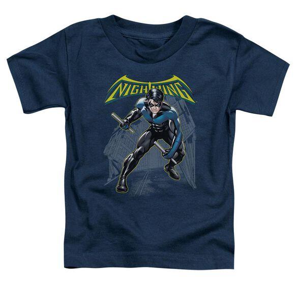 Batman Nightwing Short Sleeve Toddler Tee Navy Lg T-Shirt