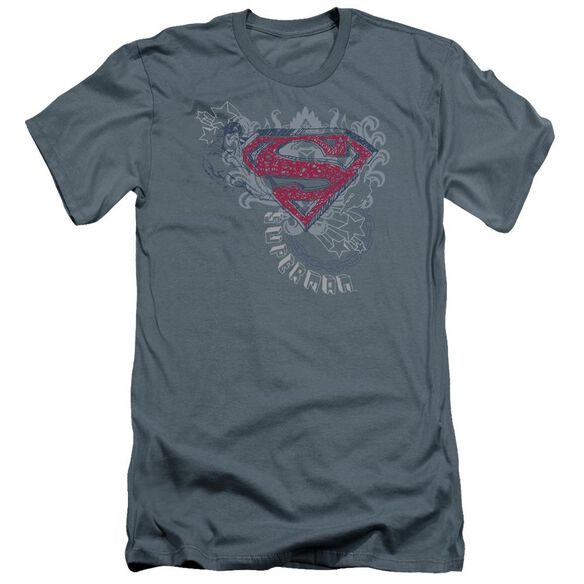 Superman Star And Chains Premuim Canvas Adult Slim Fit