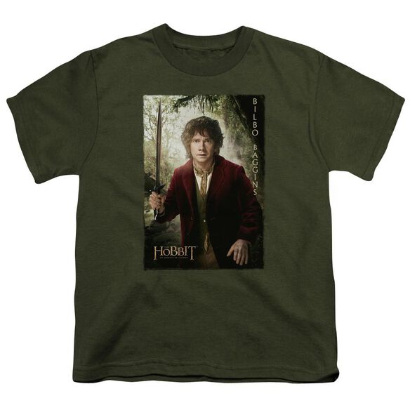 The Hobbit Bilbo Poster Short Sleeve Youth Military T-Shirt