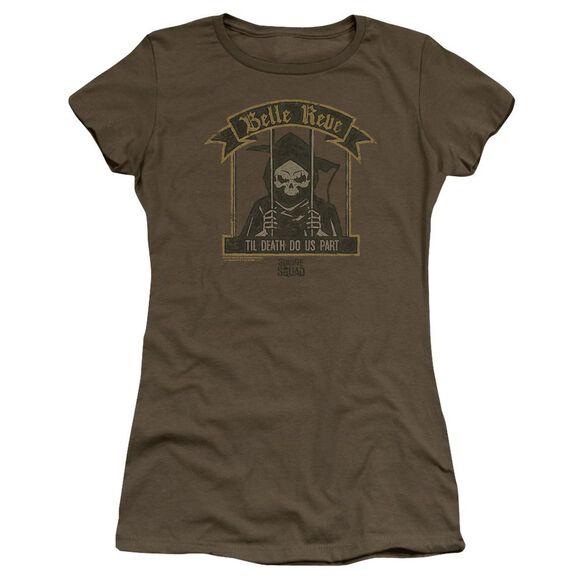 Suicide Squad Belle Reve Hbo Short Sleeve Junior Sheer Military T-Shirt