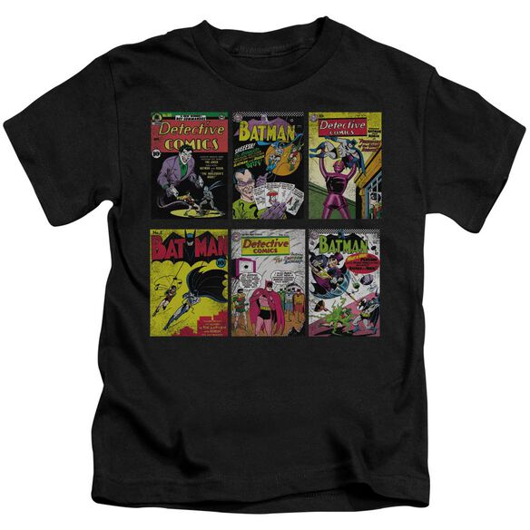 Batman Bm Covers Short Sleeve Juvenile Black T-Shirt