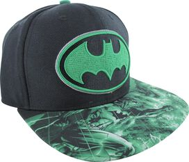 Batman Green Logo Sublimated Brim Snapback Hat
