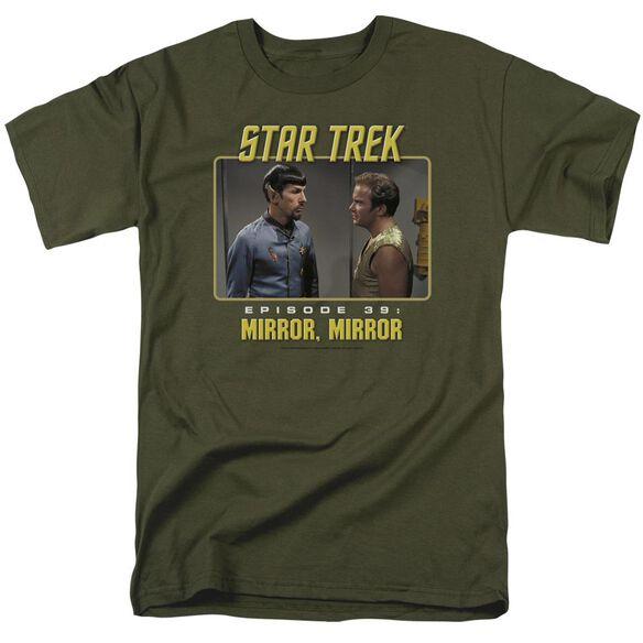 St Original Mirror Mirror Short Sleeve Adult Military Green T-Shirt