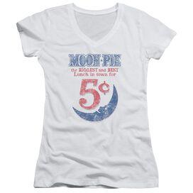 Moon Pie Lunch Munch Junior V Neck T-Shirt