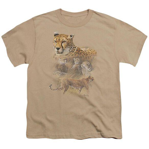 Wildlife Cheetahs Short Sleeve Youth T-Shirt