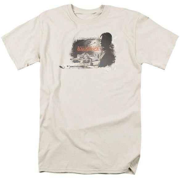 Bsg Starbuck Short Sleeve Adult Cream T-Shirt