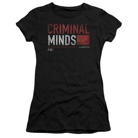 Criminal Minds Title Card Short Sleeve Junior Sheer T-Shirt