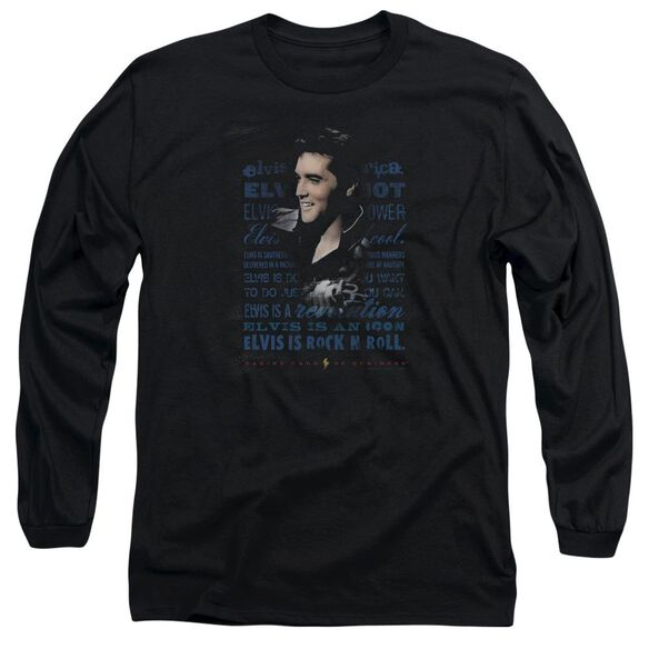 Elvis Presley Icon Long Sleeve Adult T-Shirt