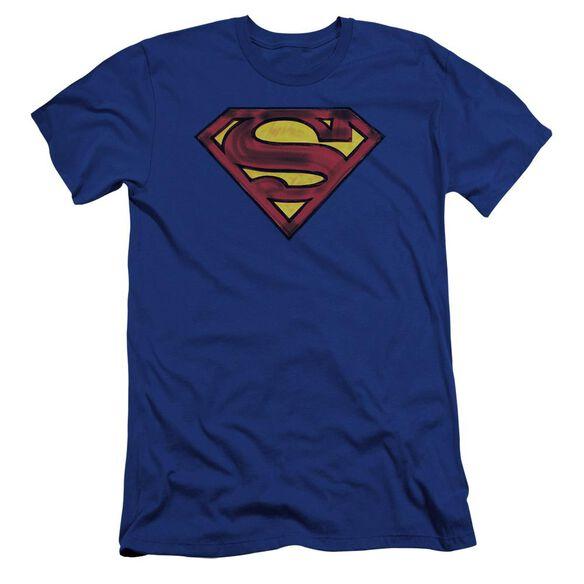 Superman Charcoal Shield Premuim Canvas Adult Slim Fit Royal