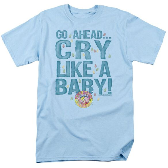 Dubble Bubble Cry Like A Baby Short Sleeve Adult Light Blue T-Shirt