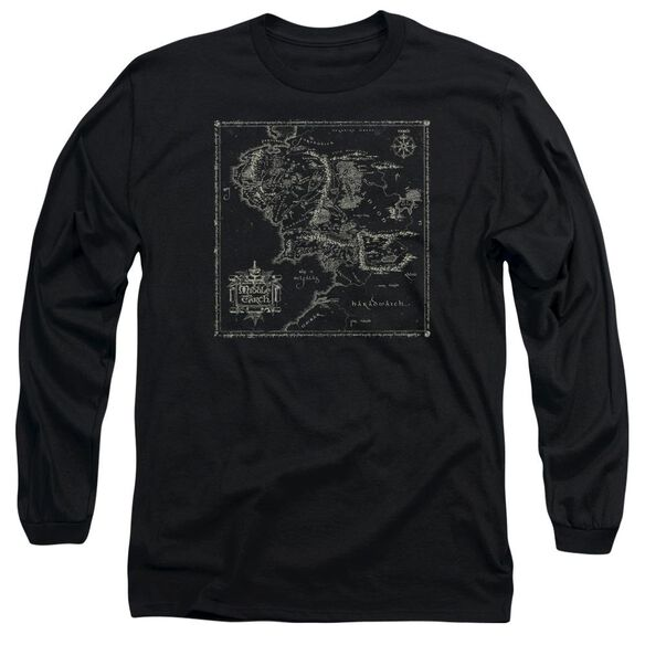 Lord Of The Rings Map Of Me Long Sleeve Adult T-Shirt