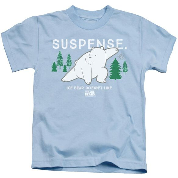 We Bare Bears Suspense Short Sleeve Juvenile Light Blue T-Shirt