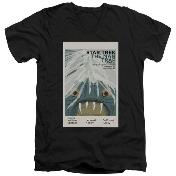 Star Trek Tos Episode 1 Short Sleeve Adult V Neck T-Shirt