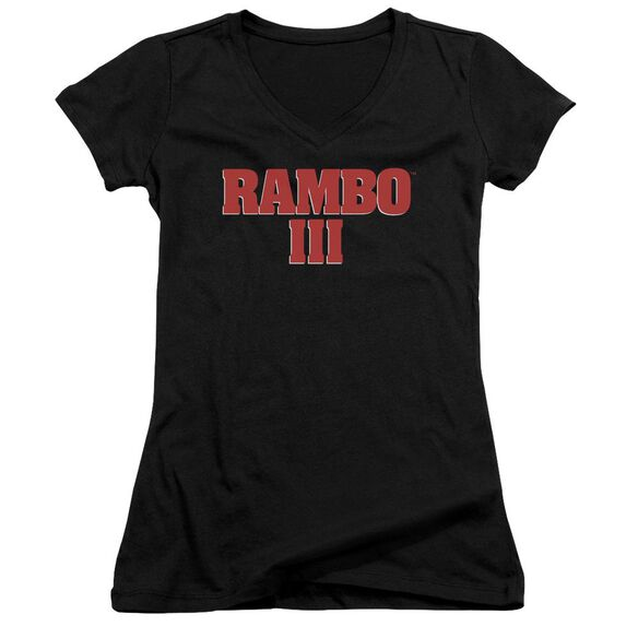 Rambo Iii Logo Junior V Neck T-Shirt
