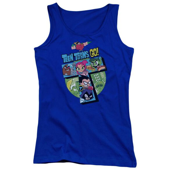 Teen Titans Go T Juniors Tank Top Royal