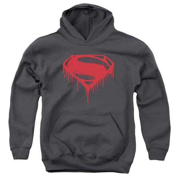 Batman V Superman Splattered Youth Pull Over Hoodie