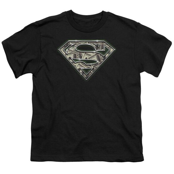 SUPERMAN ALL ABOUT THE BENJAMINS - S/S YOUTH 18/1 - BLACK T-Shirt